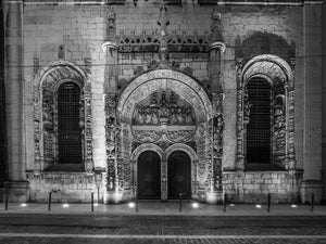Night Facade, Lisbon, Portugal