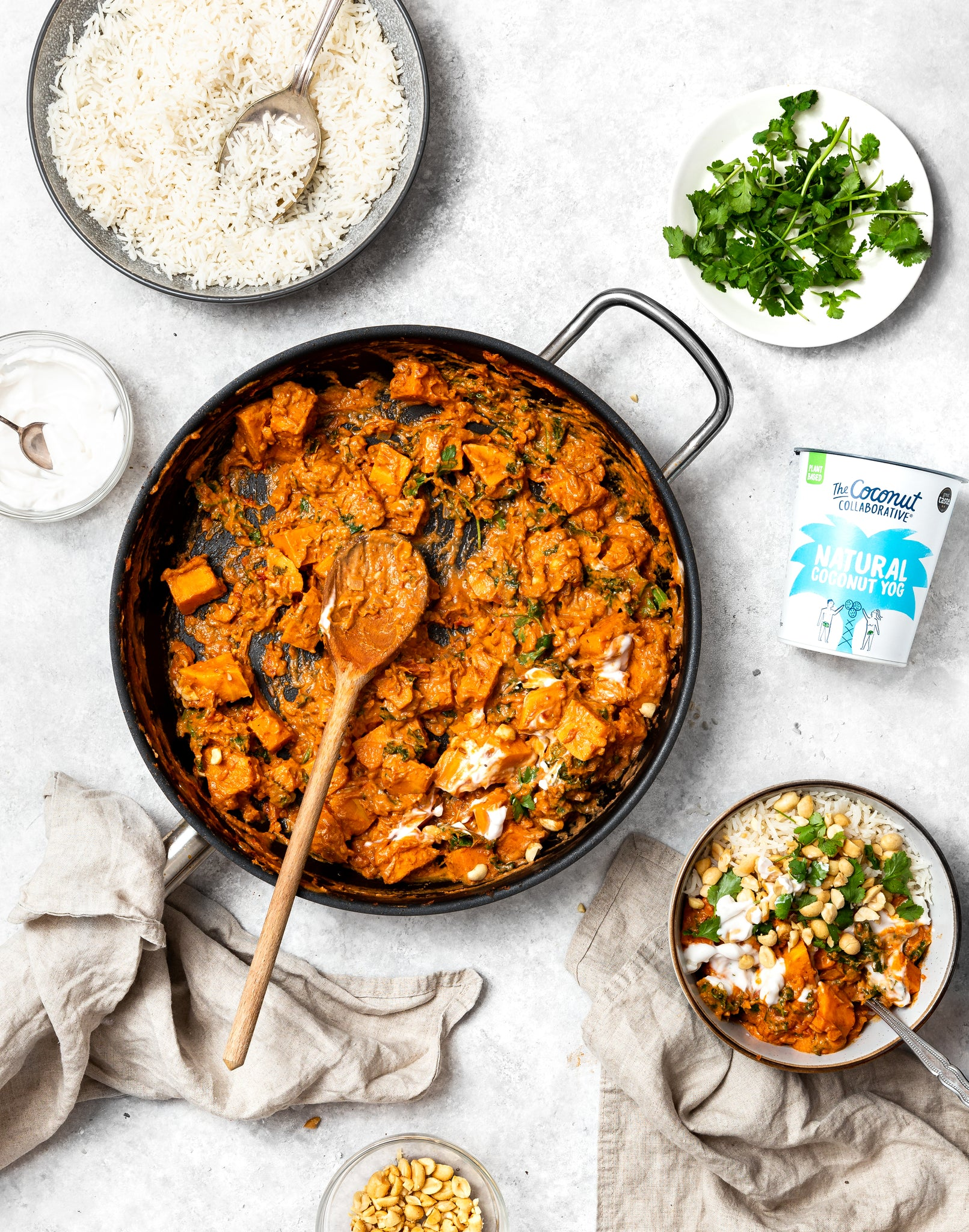 Peanut Curry with Natural Coconut Yogurt