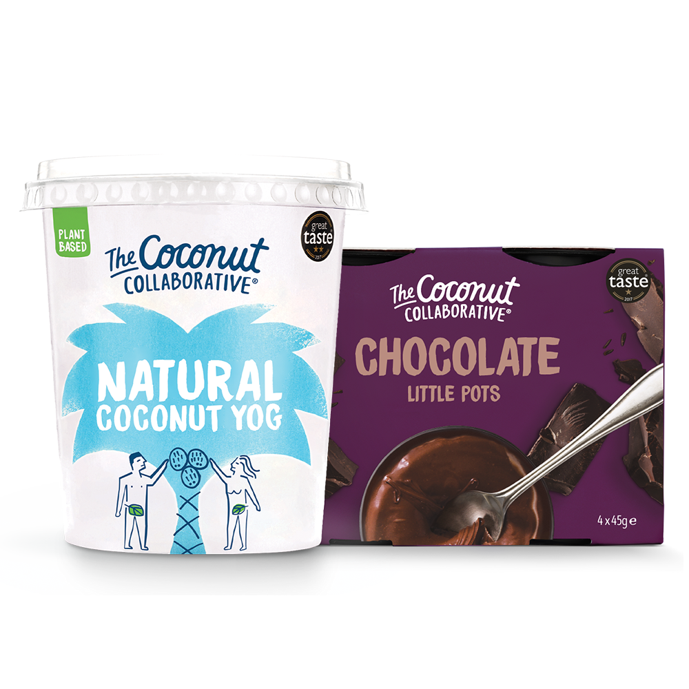 6-Pack Little Choc Pot and 6-Pack Natural Coconut Yog