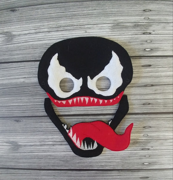 Venom Super Villain Felt Play Mask - Black Villain Mask