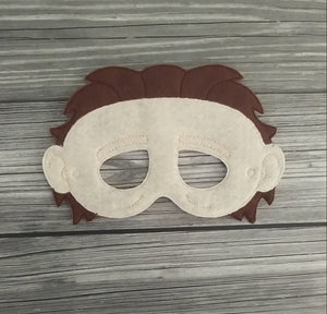 Michael Myers Felt Embroidered Mask - Boogeman Mask - Pretend Play Mask - Halloween Costume