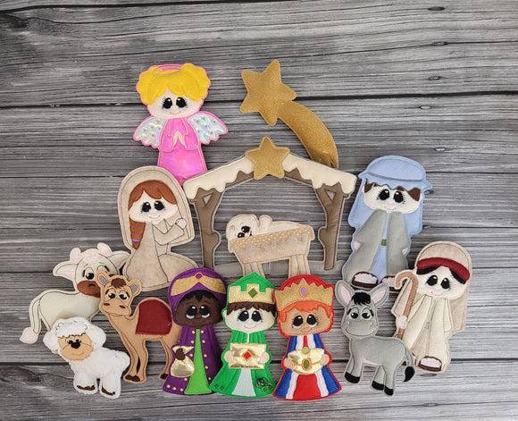 Full Nativity Set for Wreath/Tree Decoration