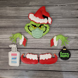 Masked Mean Green Guy Tree/Wreath Decoration