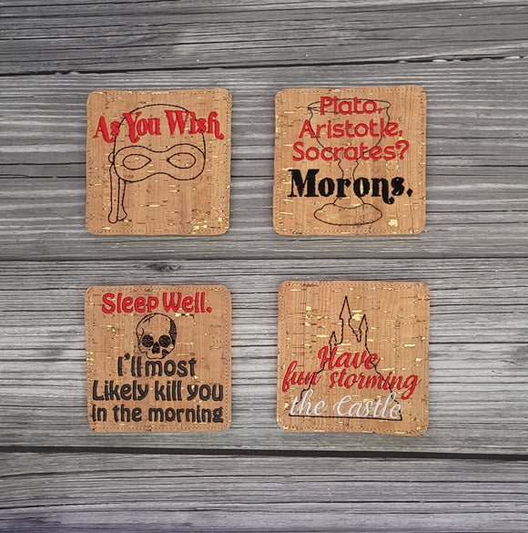 Princess Bride Themed Coasters Set 2