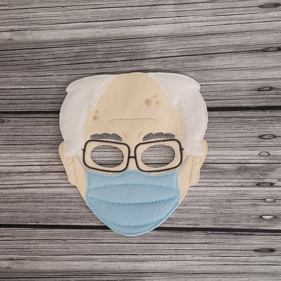 Bernie Full Face Felt Play Mask - Bernie Mask