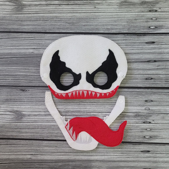Anti-Venom Villain Felt Play Mask - Anit-Hero Mask - CosPlay - White Anti-Hero Mask