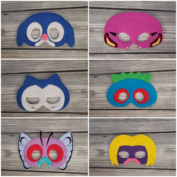 Pokemon Play Masks - Arbok - Butterfree - Jynx - Popplio - Snorlax - Oddisk - Pretend Play Mask - Play Mask