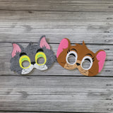 Tom and Jerry Masks - Cartoon Characters - TomCat Mask - Jerry Mouse Mask