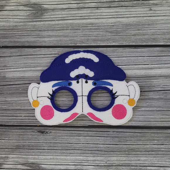 Ballerina Felt Mask - FNAF Ballora Mask - Dress Up Mask - Halloween Mask