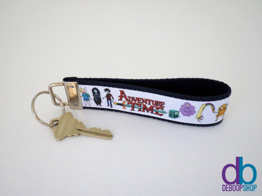 Adventure Time Ribbon Key Fob
