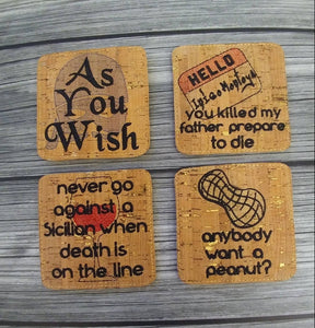 Princess Bride Themed Coasters
