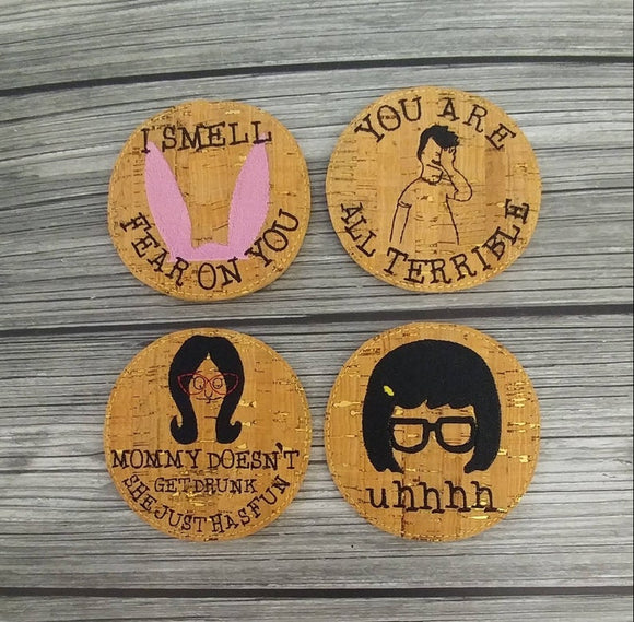 Bob's Burgers Themed Coasters