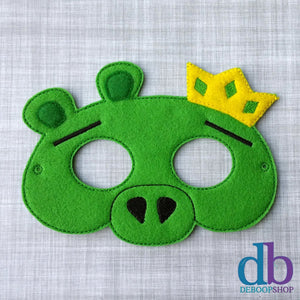 King Pig Felt Play Mask