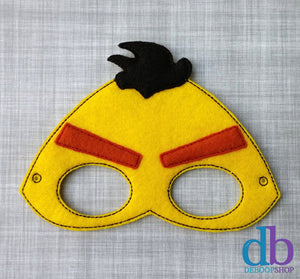 Yellow Angry Bird Felt Play Mask