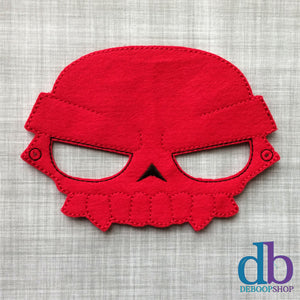Red Skull Face Felt Play Mask