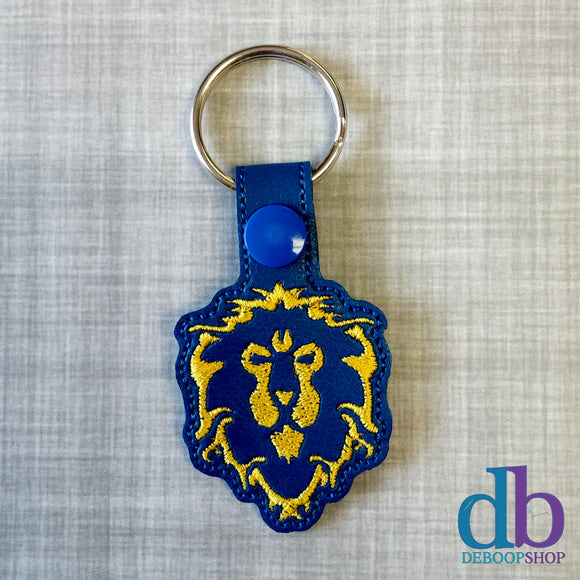 Lion Alliance Vinyl Embroidered Keychain