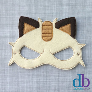 Meeowth Felt Play Mask