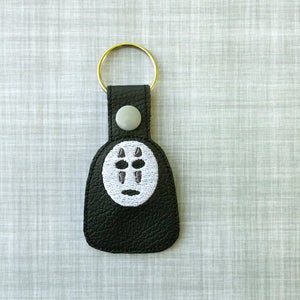 No Face Vinyl Embroidered Key Chain
