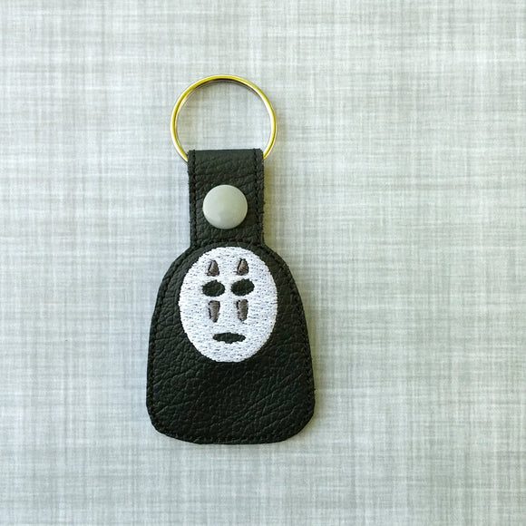Mask Face Vinyl Embroidered Key Chain