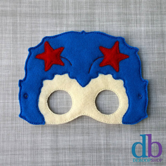 Blue Sprite Felt Play Mask