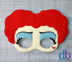 Queen of Hearts Felt Play Mask