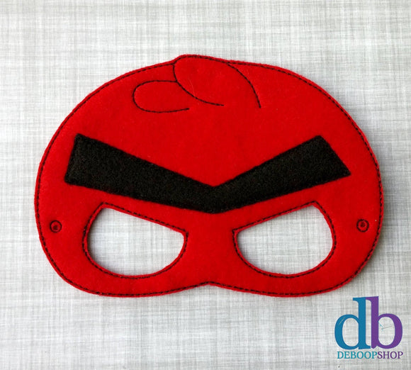 Red Angry Bird Felt Play Mask