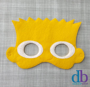 Bart Simpson Felt Play Mask from DeBoop Shop