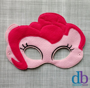 Pink Pony Felt Play Mask