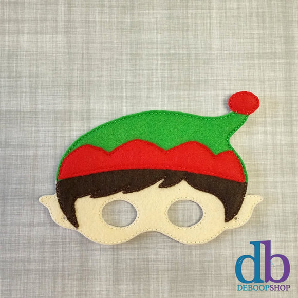 Holiday Elf Felt Play Mask