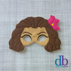 Island Princess Felt Play Mask
