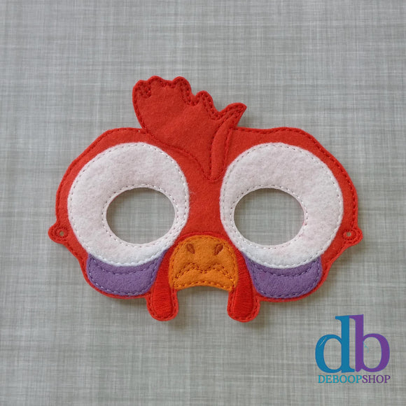 Island Chicken Felt Play Mask