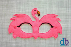 Pink Flamingo Felt Play Mask