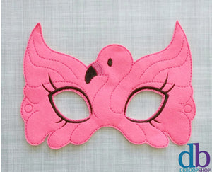 Pink Flamingo 2 Felt Play Mask