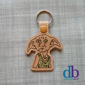 House Elf Vinyl Embroidered Key Chain