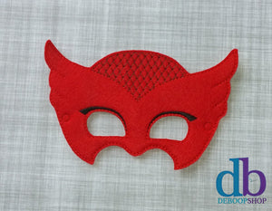 Red Owl Felt Play Mask