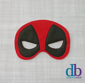 Dead Pool Felt Play Mask