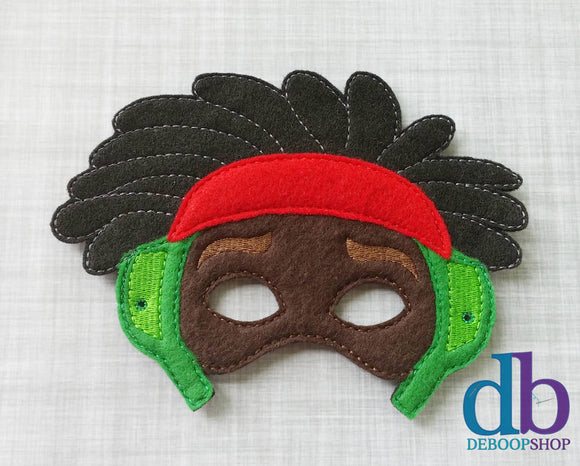 Wasabi Hero Felt Embroidered Mask
