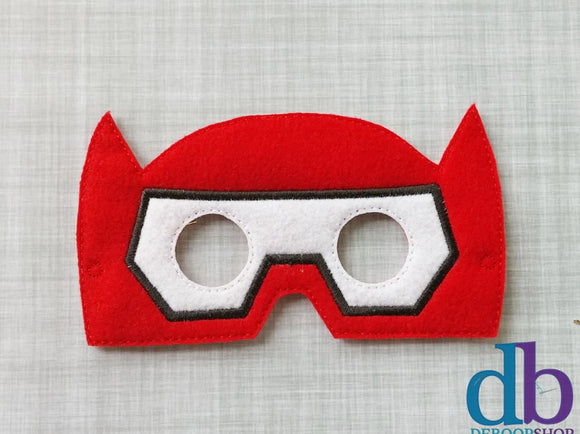 Red Robot Hero Felt Play Mask