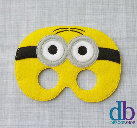 Two-eyed Yellow Man Felt Play Mask