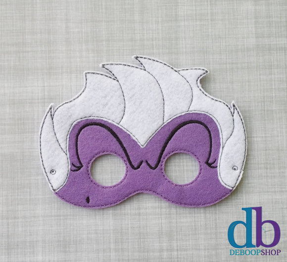 Evil Sea Witch Villain Felt Play Mask
