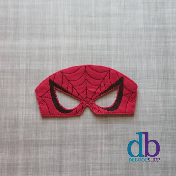 Red Spider Hero Felt Play Mask