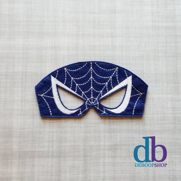 Blue Spider Hero Felt Play Mask