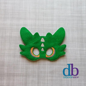 Green Dragon Felt Play Mask