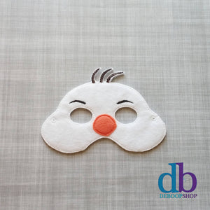 Happy Snowman Felt Play Mask