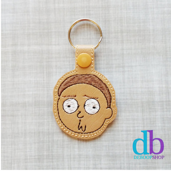 Morty Vinyl Embroidered Keyfob