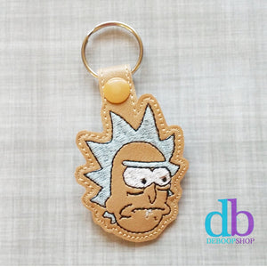 Rick Embroidered Vinyl Key Fob