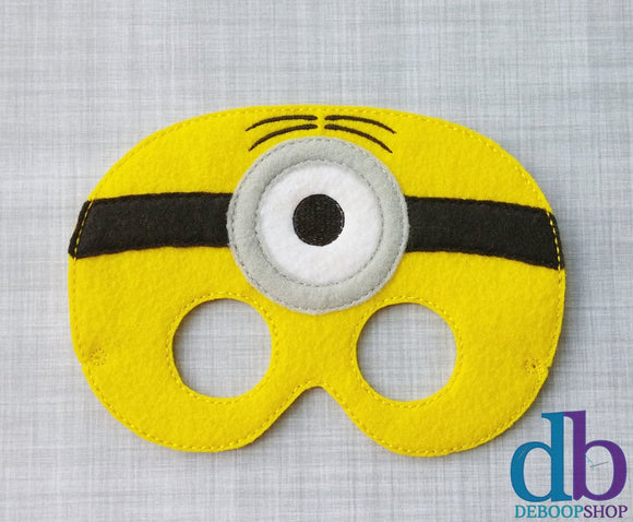 One-eyed Yellow Man Felt Play Mask