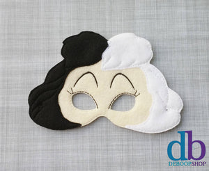 Spotted Dog Villain Felt Play Mask