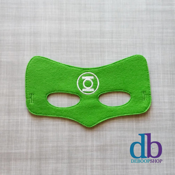 Green Super Hero Felt Play Mask