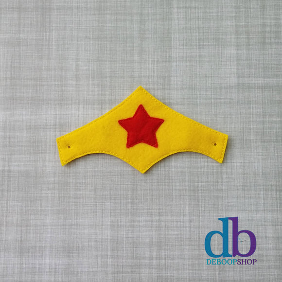Woman Wonder Hero Felt Play Headband